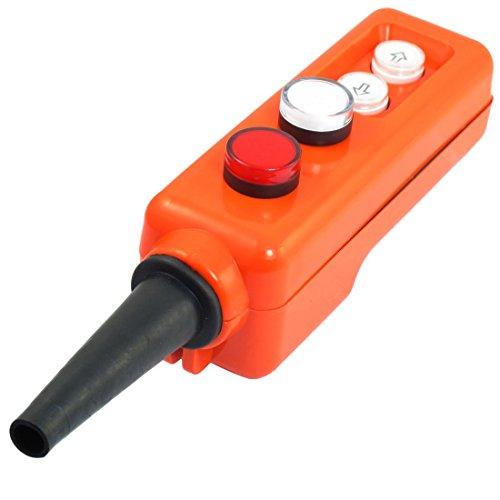 Preisvergleich Produktbild Rote weiße LED-Lampe Up-Down Hoist Hand bedienen Taster 220V AC Schalter