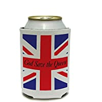 God Save the Queen - British Great Britain England Flag Can Cooler - Drink Insulator - Beverage Insulated Holder