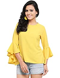 7dfde3d89d5e49 Serein Women s Top (Crepe top with Flute Sleeves)