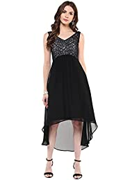 Taurus Women's Georgette Black Hide & Seek Dress