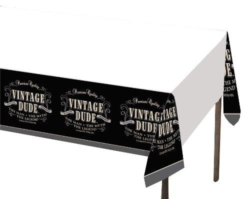 Unbekannt Creative Converting Vintage Dude Kunststoff Festtafel, 54von 274cm