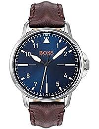 8d72de88ca9b Hugo Boss Orange Reloj Analógico para Hombre de Cuarzo con Correa en Cuero  1550060