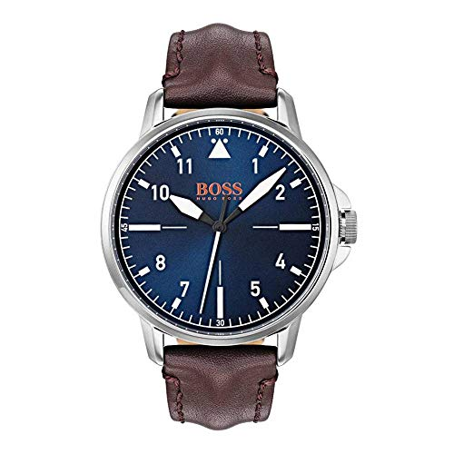 Hugo Boss Orange Unisex-Armbanduhr - Analog Quarz Uhr mit Leder Armband 1550060