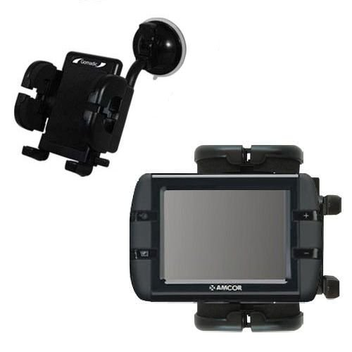 amcor-navigation-3500-compatible-windshield-mount-for-the-car-auto-flexible-suction-cup-cradle-holde