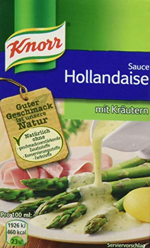 Knorr Tafelfertige Hollandaise mit Kräutern Soße, 4er Pack (4 x 250 ml)