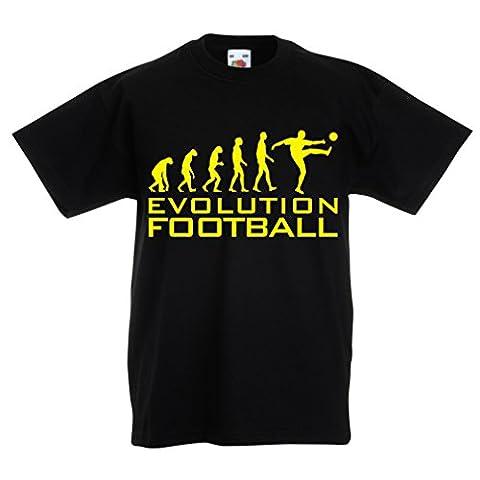 T-shirt pour enfants The Evolution Football (14-15 years Noir Jaune)