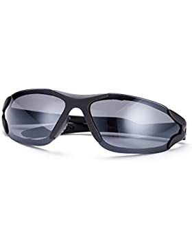 NYKKOLA para mujer para hombre rimeless polarizadas gafas de espejo gafas de sol gafas gafas UV400con Funda,...