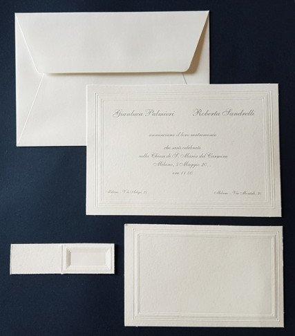 Inviti matrimonio cod. 29959 produzione artigianale
