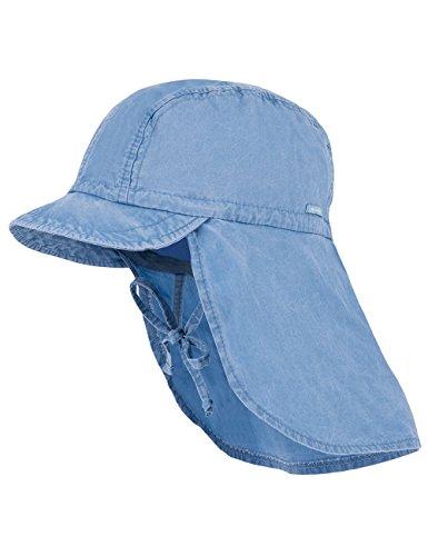 maximo Jungen Schildmütze, Nackenschutz, Bindeband, Waschoptik Mütze Blau (Denim...