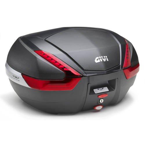 Givi V47 Tech Monokey Universal Topcase negro mate La Óptica De Carbono
