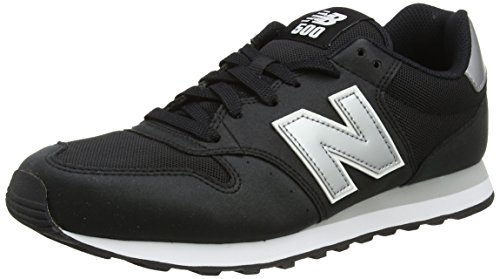 New Balance Herren GM500 Sneaker, Schwarz (Black/silver/GM500KSW), 44 EU - New Balance-mens Turnschuhe