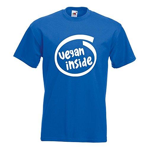 KIWISTAR - vegan inside T-Shirt in 15 verschiedenen Farben - Herren Funshirt bedruckt Design Sprüche Spruch Motive Oberteil Baumwolle Print Größe S M L XL XXL Royal