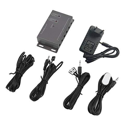 WEIWEITOE Kompakte Größe Einfach zu montierender Infrarot-Fernbedienungs-Extender 6 Sender 1 Empfänger CFL-freundliches IR-Repeater-System-Kit, schwarz, -