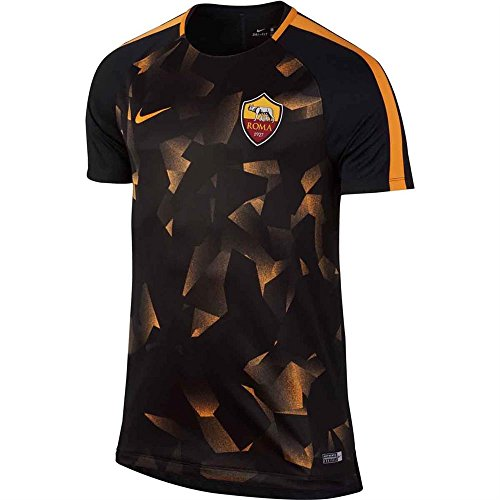 2017-2018 AS Roma Nike Pre-Match Training Shirt (Black)