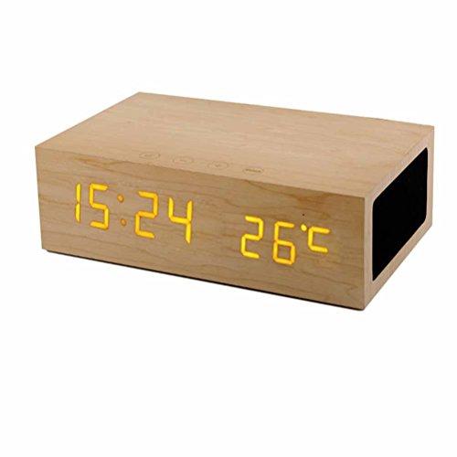 DD Temps De Création De Subwoofer, Sonde De Réveil, Haut-Parleurs Bluetooth En Bois, Chargement Usb , Oaks,oaks