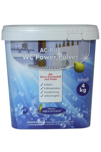 AQUA CLEAN WC Power Pulver 4kg mit Zitrus-Frischeduft und Farbe