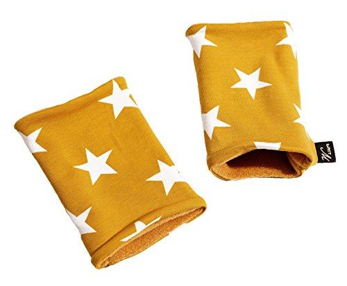 16507 | Kurz Stulpen, Pulswärmer STARS Label brit-M, Atelierarbeit aus Deutschland