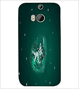 HTC ONE M8 S FLYING GIRL Designer Back Cover Case By PRINTSWAG