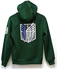 2 Colors Attack on Titan Unisex Cosplay Costume -Green/Black Hoodie Scouting Legion Hooded Jacket