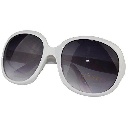 Ezyoutdoor Sonnenbrille Eyewear für sportliche Laufen Fahren Angeln Golf Angeln Radfahren Unbreakable Sonnenbrille Classic Rund Kreis Fuß (weiß)