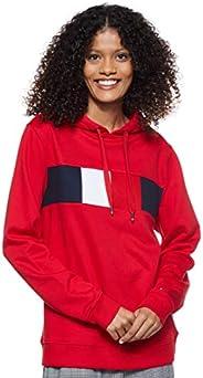 Tommy Hilfiger Women's Stella Long Sleeve Hoodie, Red, Me