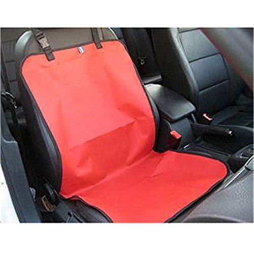 Zamishen Haustier wasserdichte Oxford Auto-Vordersitzbezug-Matte Single Seat Protector Für Haustier Hund Katze Welpen Doppelschicht (Color : Red) -