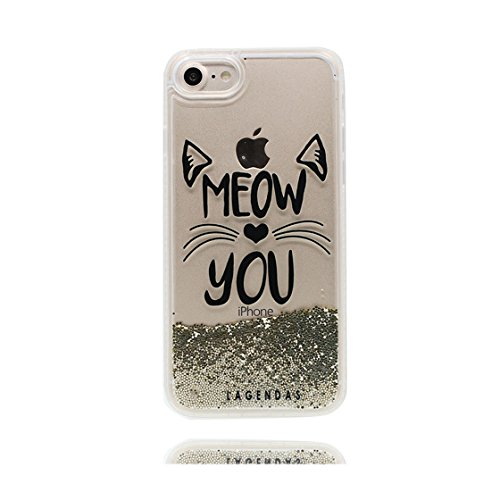 iPhone 7 Plus Custodia, Vista trasparente Case gel libera progettata, iPhone 7 Plus Copertura 5.5 / Cover Cartoon ( gatto Sparkle ) / Farfalla di Bling / Durable color 4