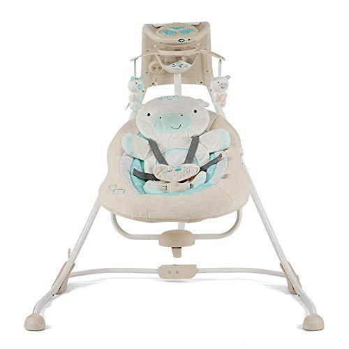 Imagen para CWLLWC hamacas Bebes babybjorn,Bebé música luz eléctrica Columpio Mecedora eléctrica Plegable