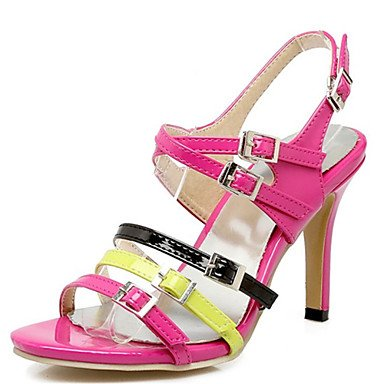 LvYuan Sandali-Ufficio e lavoro Formale Casual-Innovativo Club Shoes-A stiletto-Vernice-Rosa Beige fuchsia