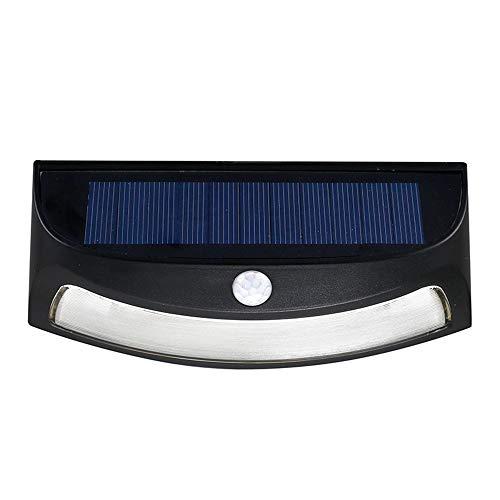 ZDGM Solarleuchte für Außen,270° Superhelle iPosible LED Solarlampen mit Bewegungsmelder Wasserdichte 750mAh Solar Wandleuchte mit Solarlicht für Garten,Patio,Black,002