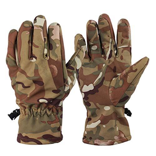 Guanti invernali da esterno unisex 3 dimensioni guanti da dito pieno con guanti da moto termici impermeabili antivento in pile caldo