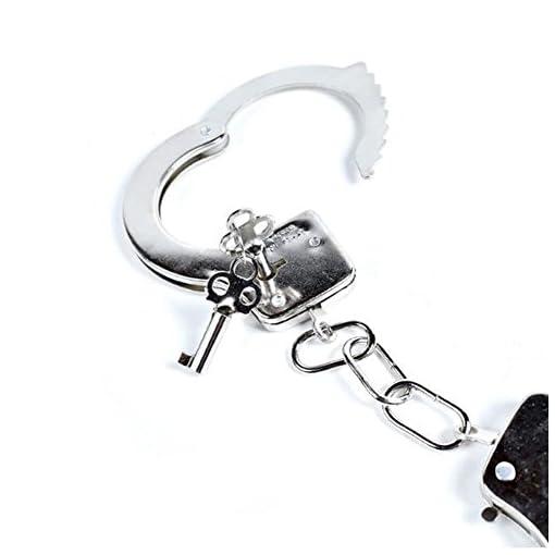 Elegantes-Spielzeug-fr-Kinder-Metall-Handschellen-mit-Schlssel-fr-Kinder-Polizei-Spielzeug-Party-Kostm-Zubehr