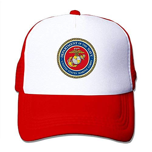 The Marine Corps Seal Fashion Baseball Cap for Men and Women Adjustable Mesh Trucker Hat Red Seal Chef