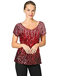 b5a7b1cc7a2d64 Suchergebnis auf Amazon.de für  pailletten shirt damen - Pailletten ...