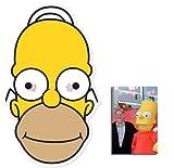 Homer Simpson Masque en carton de 2D (Les Simpson) - Comprend une photo étoile (15x10cm)