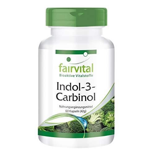 Indol-3-Carbinol Kapseln - VEGAN - HOCHDOSIERT - 60 Kapseln - mit Brokkoli-Pulver - I3C (1) -