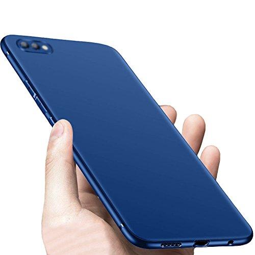 Bleu Mince Souple TPU Silicone Coque Etui Housse Slim Case + Protecteur écran Pour Huawei Honor View 10 / Honor V10 Vooway® MS50135