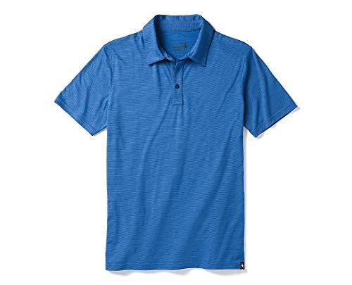 Smart Wool Men's Merino 150 Pattern Polo Bright Cobalt S