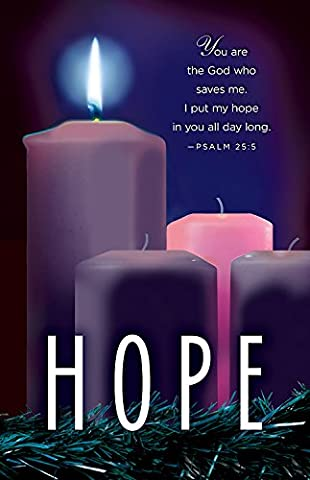 Hope Advent Candle Sunday 1 Bulletin, Pkg of 50: Package of 50