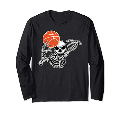 Halloween-Skelett-Basketball-Spieler-Schädel übergibt Party (Basketball Spieler Kostüm Für Jungen)