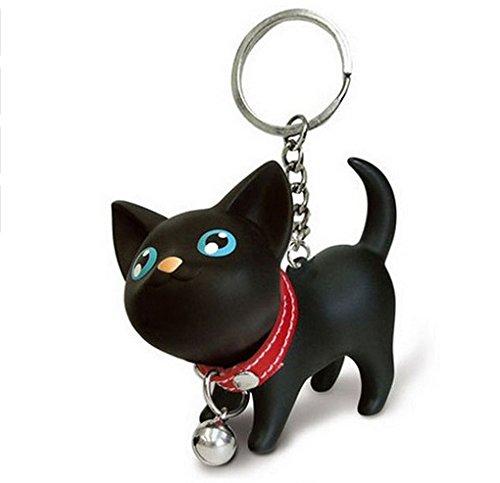 Katze mit Glocke Halsband Schlüsselanhänger Kater   Geschenk   Kinder   Frauen   Damen   Tier   Haustier   Tatze