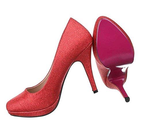 4f320d4e8e00 Damen Pumps Schuhe High Heels Stiletto Abendschuhe Club Party Schwarz Weiß Rot  36 37 38 39 ...