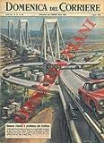 """Copertina illustrata a colori in fascicolo originale completo de """"La Domenica del Corriere"""" del 1/03/1964"""