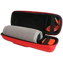 Khanka Dur Cas étui de Voyage Housse Porter pour JBL Charge 3 Enceinte portable étanche (red)