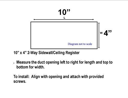 Accord abswwh2104Seitenwand/Deckenleuchte Register mit 2-Wege-Design, 25,4x 4-Zoll, weiß