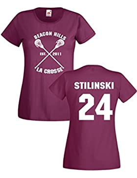 Settantallora T-shirt Maglietta donna J2336 Beacon Hills La Crosse Stilinski 24