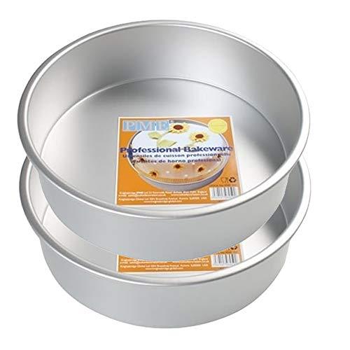 PME RND - Juego 2 moldes Redondos Aluminio Hornear