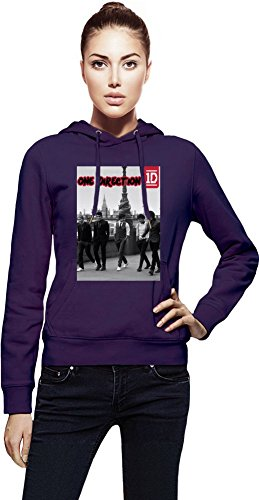 One Direction Boys Cappuccio da donna Women Jacket with Hoodie Stylish Fashion Fit Custom Apparel By Genuine Fan Merchandise Medium