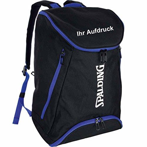 Spalding Basketball Rucksack schwarz/blau mit Aufdruck Name