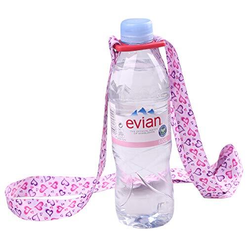 Delleu Einstellbare Wasserflasche Sling Trinkflasche Sling Universal Wasserflasche Träger Flasche Strap Für Tägliches Gehen, Radfahren, Wandern -